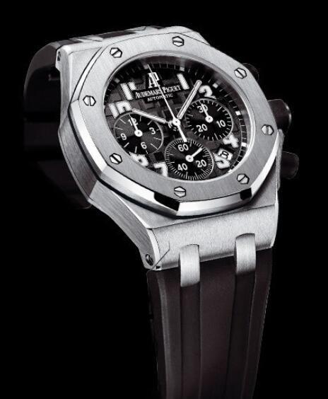 Replica Watch Audemars Piguet Chronographe Lady Royal Oak Offshore 26283ST.OO.D002CA.01 Steel - Black strap