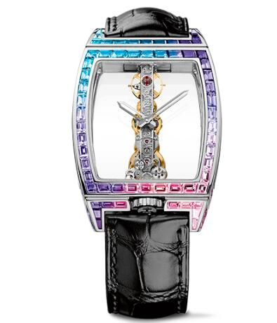 Corum Watch Golden Bridge Classic WHITE GOLD BAGUETTE Replica Ref. B113/02955 - 113.310.69/0F01 0000G