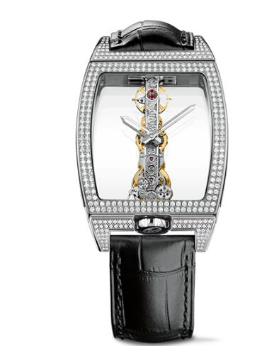 Corum Watch Golden Bridge Classic WHITE GOLD DIAMONDS Replica Ref. B113/03198 - 113.162.69/0F01 0000