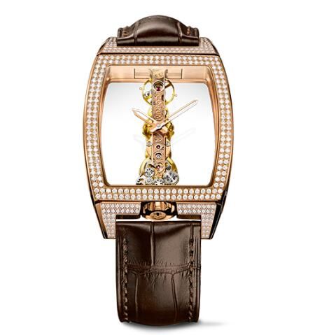 Corum Watch Golden Bridge Classic ROSE GOLD DIAMONDS Replica Ref. B113/03859 - 113.162.85/0F02 0000