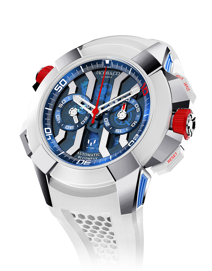 Jacob & Co. Epic X Chrono Messi Titanium Watch Replica EC313.20.PE.LL.K Jacob and Co Watch Price