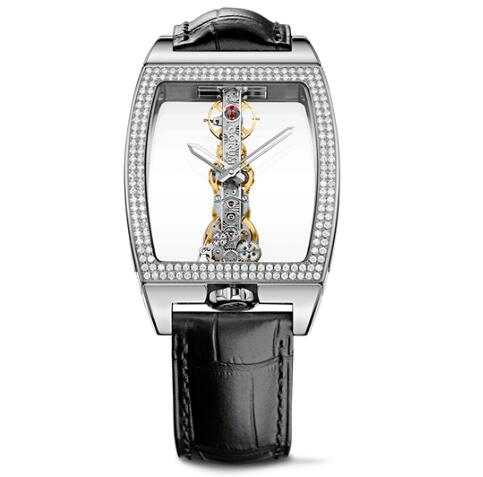 Corum Watch Golden Bridge Classic WHITE GOLD DIAMONDS Replica Ref. B113/01044 - 113.161.69/0001 0000